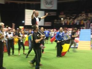 Treneren vår, Andy de Groote fra Belgia, vant sølv!