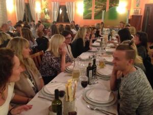 Middag med supporterne - stor stas!