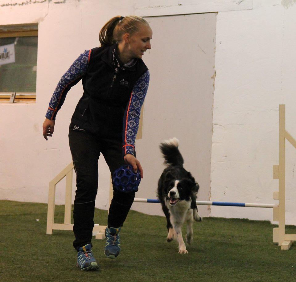 Jess i farta på sitt første kurs! Foto: Bente Hansen