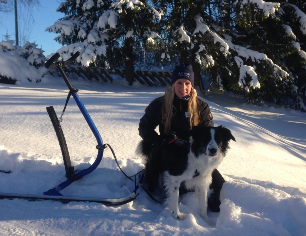 Jess og meg etter turen. Da var det tid for å gå ned noen minutter . Viktig å varme opp og gå ned etter slike økter!