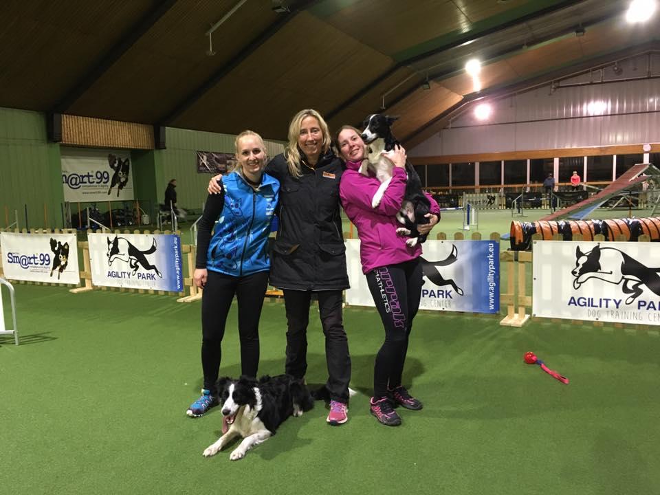 Jeg og Jess sammen med Krisztina Beitl-Kabai og Jane Elene Christensen i Mendig, Tyskland.